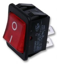 ARCOLECTRIC C1353AB0/1RED  Rocker Switch Dpst Illum Red I/O
